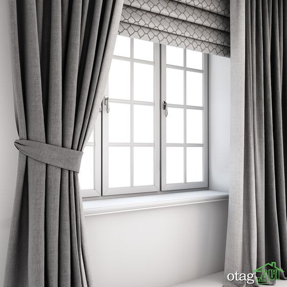 مدل های جدید شید پشت پنجره مناسب آشپزخانه و اتاق پذیرایی