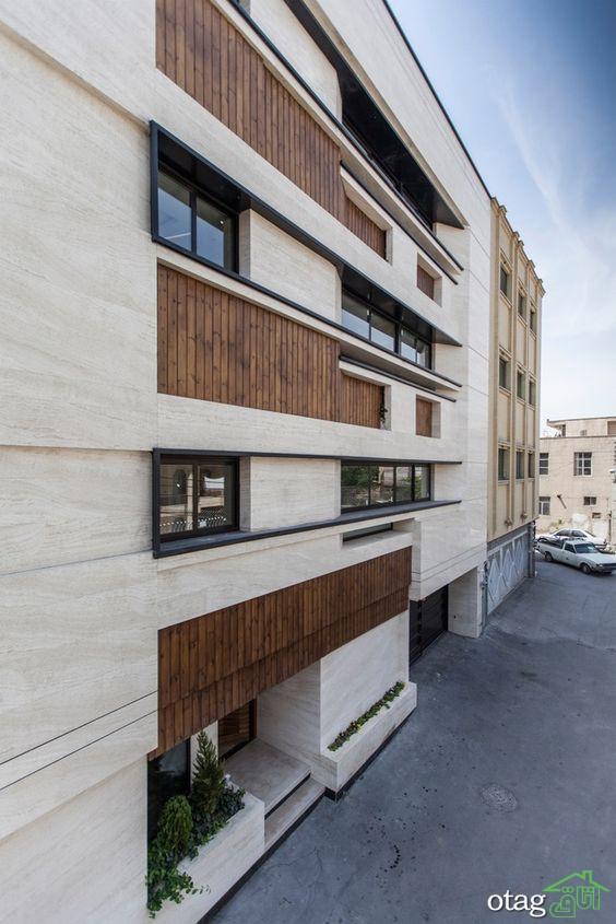 نمای ترمووود و سنگ در ساختمان های مدرن مسکونی و تجاری ایران