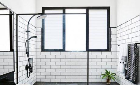 طراحی مدرن حمام سیاه و سفید ترندهای سال 2020