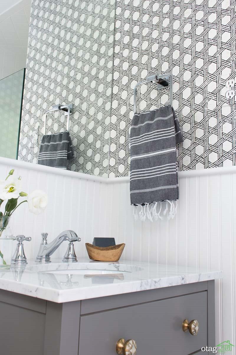 ایده های خلاقانه کاغذ دیواری سرویس بهداشتی