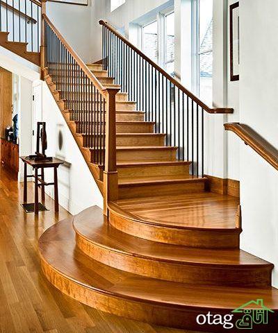 بهره مندی از وجود راه پله های شیک و مدرن در منازل مسکونی