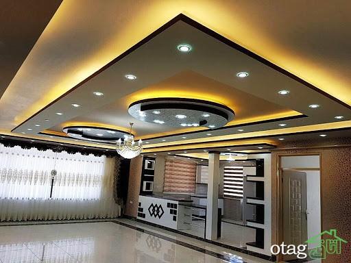 به کار گیری سقف کناف با جلوه های نورپردازی برای زیبا سازی منازل
