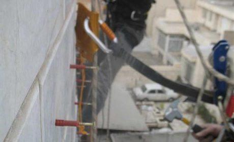 پیچ و رولپلاک نما با طناب با روش کار در ارتفاع
