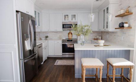دکوراسیون آشپزخانه 10متری با طراحی بسیار زیبا بهمراه پلان