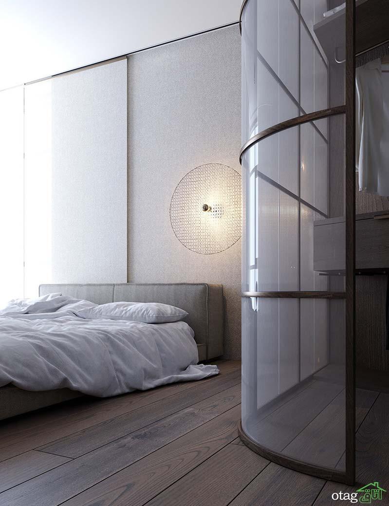 طراحی آپارتمان 100 متری با چیدمان مدرن ساده به همراه پلان