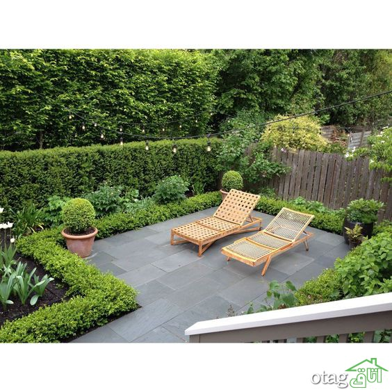 طراحی فضای سبز حیاط آپارتمان ها به عنوان دکوراسیون خارجی