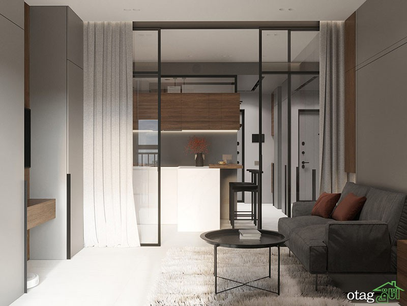 چیدمان آپارتمان 30 متری   دو نمونه بسیار زیبا بهمراه پلان