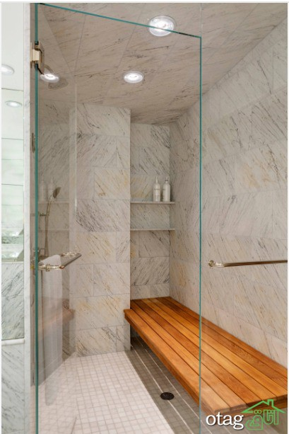 ایدههای جدید ساخت نیمکت حمام در انواع تاشو و ثابت برای سالمندان
