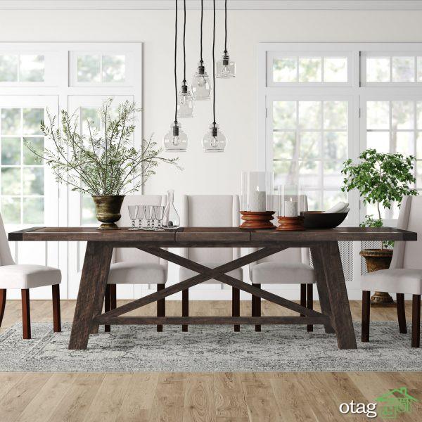 34 مدل میز غذاخوری روستیک برای چیدمانهای سنتی و مدرن