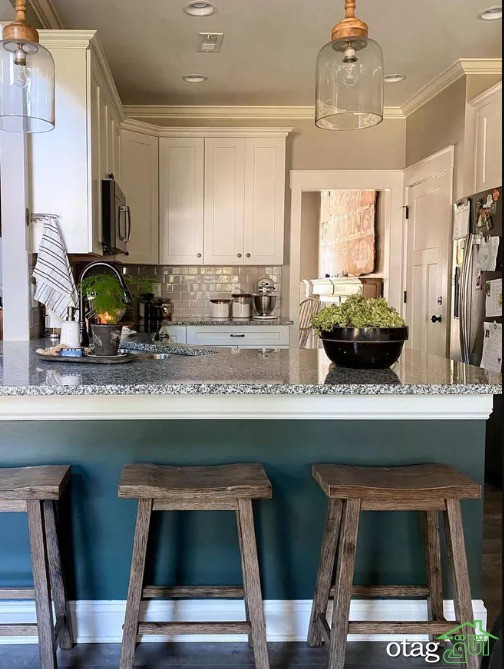 بهترین رنگ کابینت آشپزخانه کوچک برای دلباز نشان دادن فضا