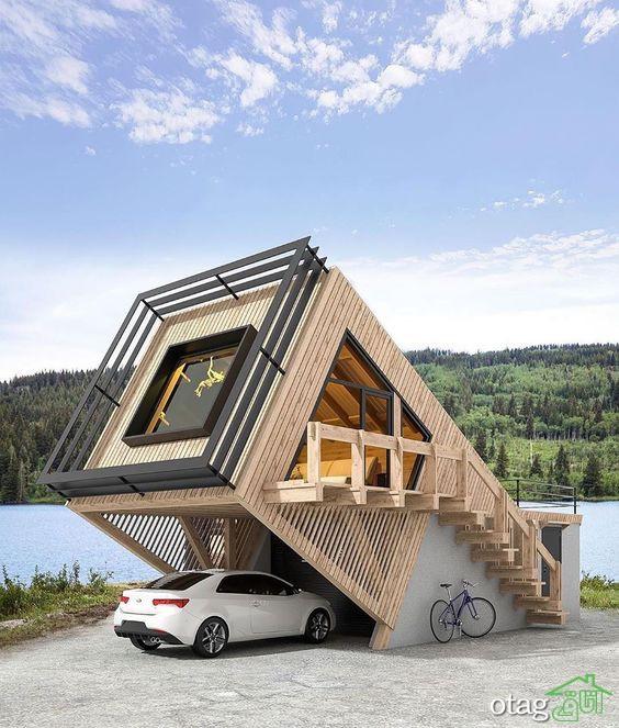 ایدههای جالب طراحی خانه باغ کوچک به شکل مدرن و ساده