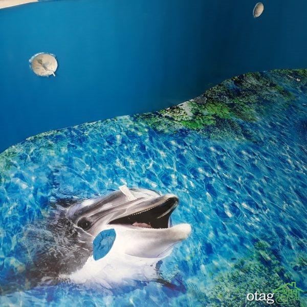 طراحی کف استخر سه بعدی ایده ای بسیار جذاب و زیبا برای خانه های لوکس و مدرن