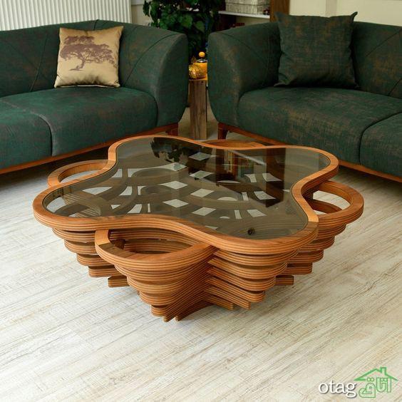 طراحی بهترین دکوراسیون خانه مدرن توسط میز جلو مبلی مدرن