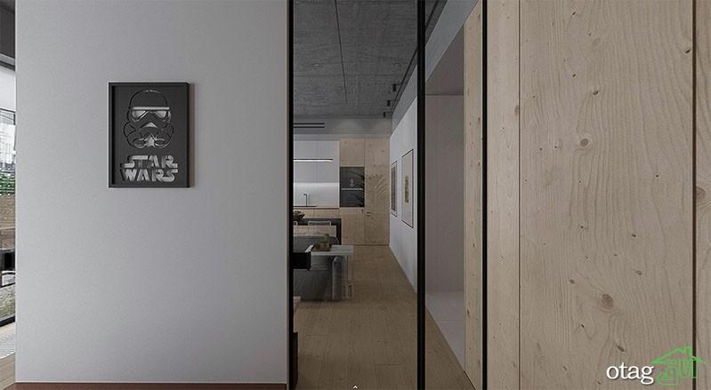 دکوراسیون خانه 45 متری تک خوابه با طراحی لوکس به همراه پلان
