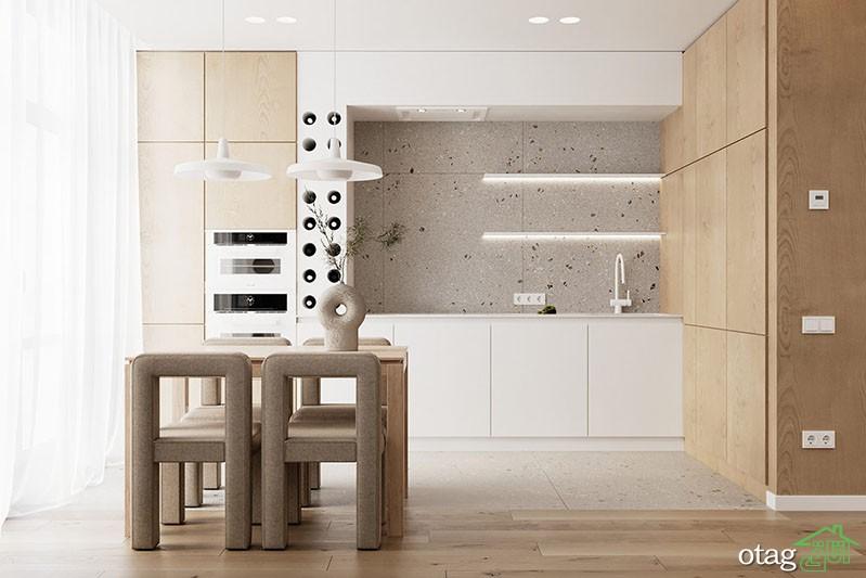 چیدمان آپارتمان 70 متری به همراه پلان با طراحی جوان پسند