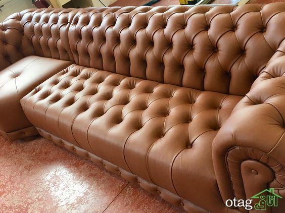 مدلهای جدید مبل ال چستر در طرحهای مخملی و چرم کلاسیک