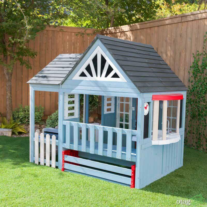 انواع جدید کلبه کودک چوبی و پلاستیکی مناسب حیاط خانه