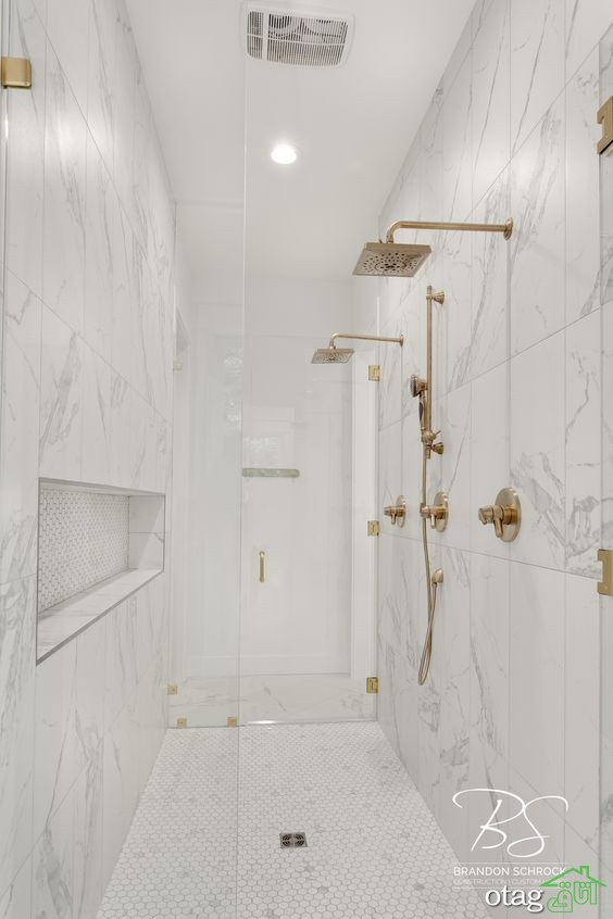 طراحی حمام سفید با دکوراسیون لوکس و جذاب، بررسی 30 مدل جدید