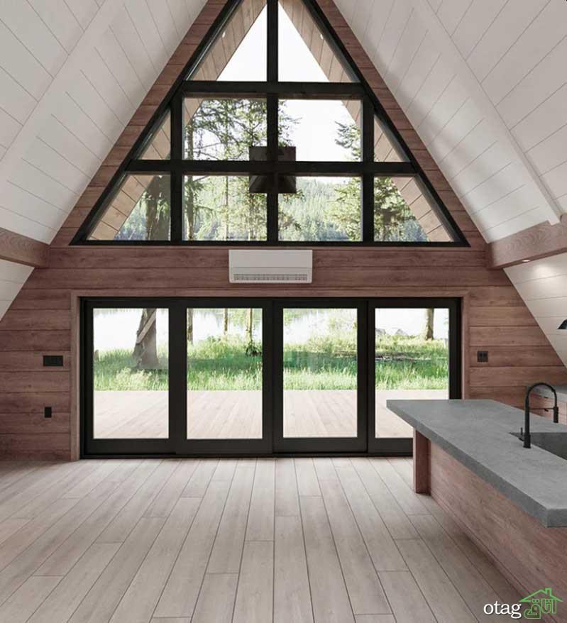 30 ایده جذاب طراحی خانههای مثلثی برای ساخت ویلا و کلبه