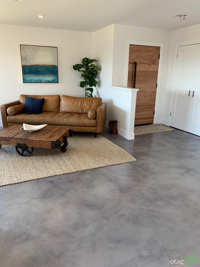 چهار ایده جذاب برای تزیین کف اتاق سیمانی با هزینه اندک