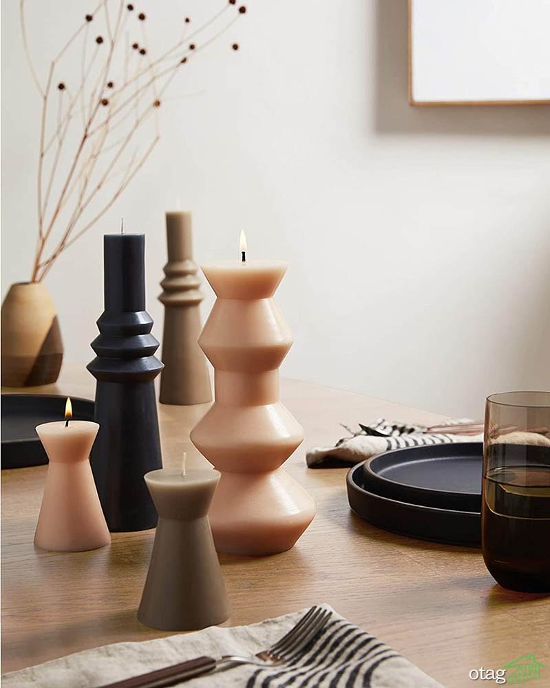 شمع دکوری زیبا، با این شمعها خانه خود را رمانتیک کنید