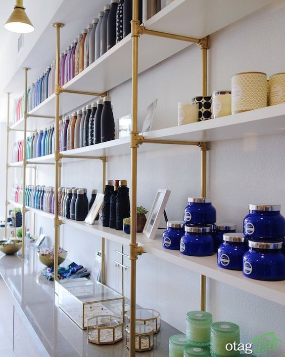 لزوم استفاده از قفسه بندی فروشگاه ها به منظور زیباتر جلوه دادن دیزاین آن ها