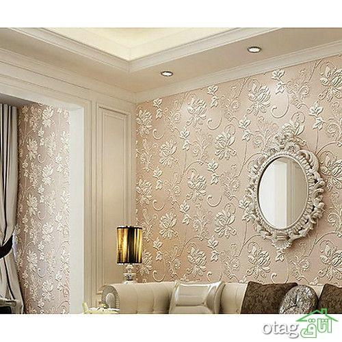 22 مدل جذاب کاغذ دیواری کرم طلایی برای پذیرایی و اتاق خواب