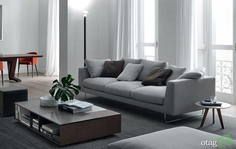 30 مدل جدید مبل راحتی طوسی برای خانههای مدرن و امروزی