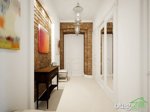 راهرو ورودی خانه با دیزاین زیبا و کاربردی مناسب منازل مدرن