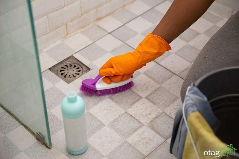 روش تمیز کردن دوغاب حمام و دستشویی با وسایل ساده خانگی