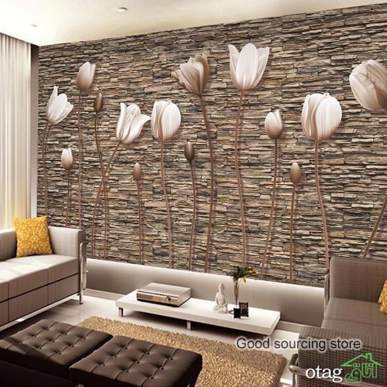 مدلهای جدید پوستر دیواری پذیرایی در انواع سه بعدی و ساده