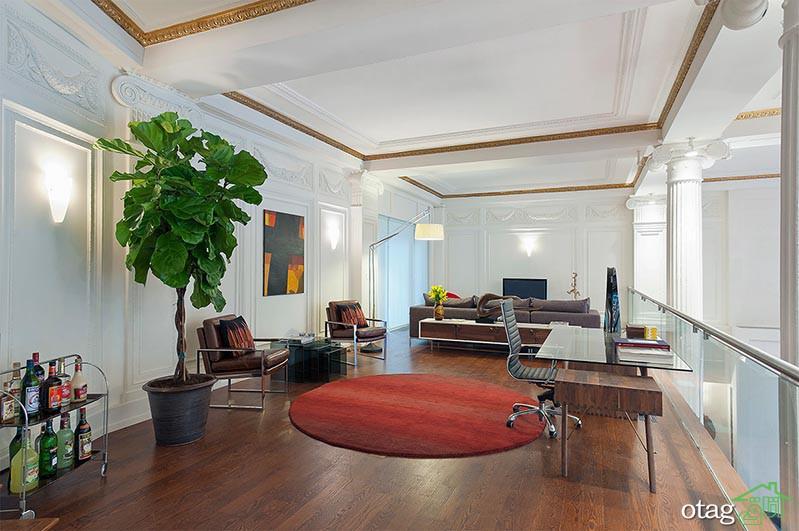 بررسی طراحی داخلی خانه تریپلکس لاکچری با سه چیدمان متفاوت