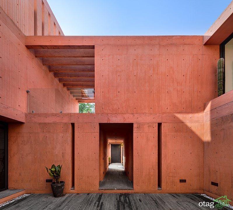 نمای سیمان رنگی در ساختمانهای مسکونی و تجاری شهری و ویلایی