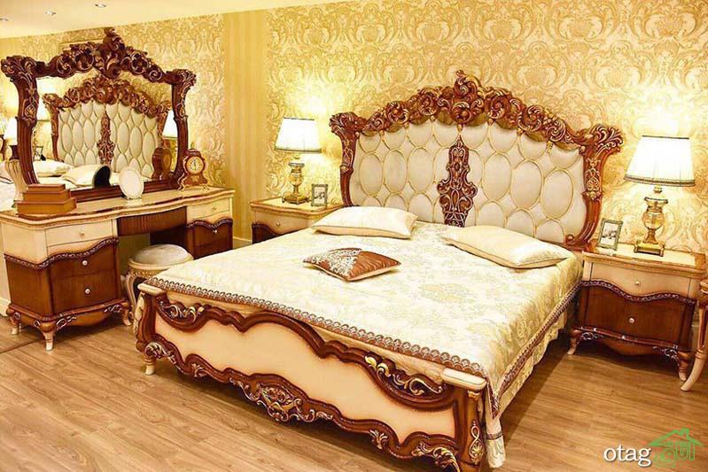 سرویس خواب چوبی جدید در طرحهای مدرن، سلطنتی و روستیک