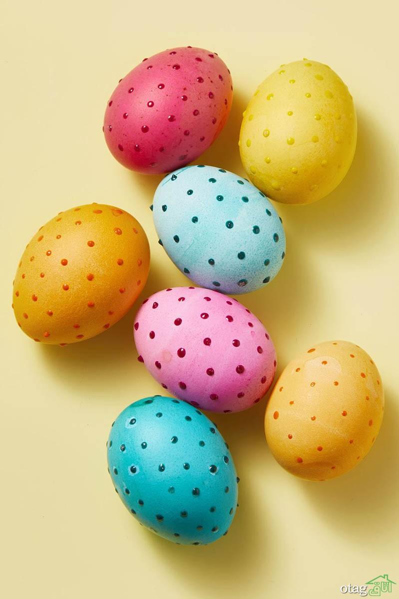 عکس از طرحهای جذاب تخم مرغ رنگی عید برای سفره هفت سین 1400