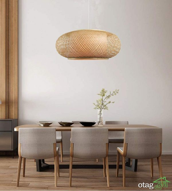40 مدل چراغ آویز حصیری با طراحی زیبا و مدرن در سال 2021