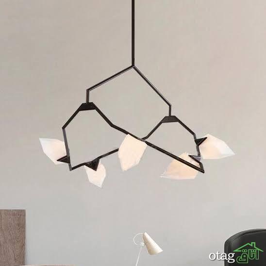 طرحهای جدید لوستر فلزی مشکی برای اتاقهای مختلف خانه