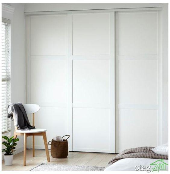 آشنایی با بهترین طرح های کمد دیواری سفید
