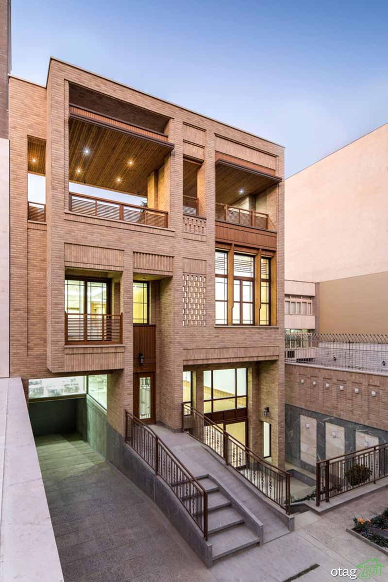 بررسی نمای ساختمان چهار طبقه در اصفهان به همراه پلان اجرایی