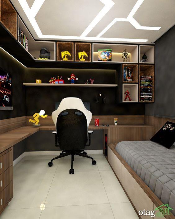 36 مدل ایده طراحی اتاق گیمینگ به سبک مدرن در سال 2021