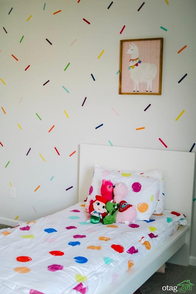 ایدههای جذاب تزیین دیوار اتاق دخترانه با دکوریهای ارزان