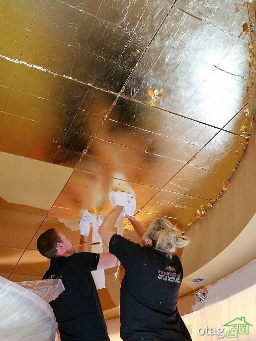 ایدههای جذاب اجرای ورق طلا روی سقف در منازل کلاسیک و لوکس
