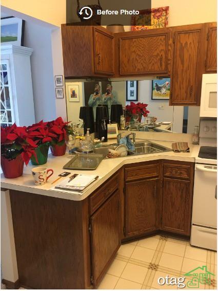 تغییر اپن آشپزخانه قدیمی با تخریب کامل دیوار در 5 طرح زیبا