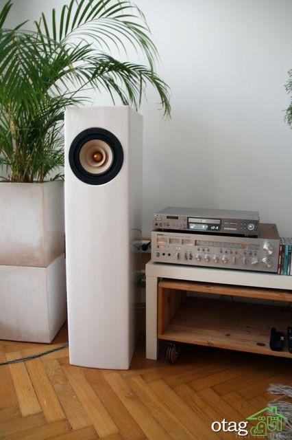 چیدمان صحیح دکوراسیون اتاق موسیقی شخصی در منزل با اجرای ساده