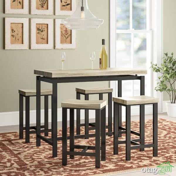 طرحهای جدید میز ناهارخوری فلزی در ستهای دو تا شش نفره