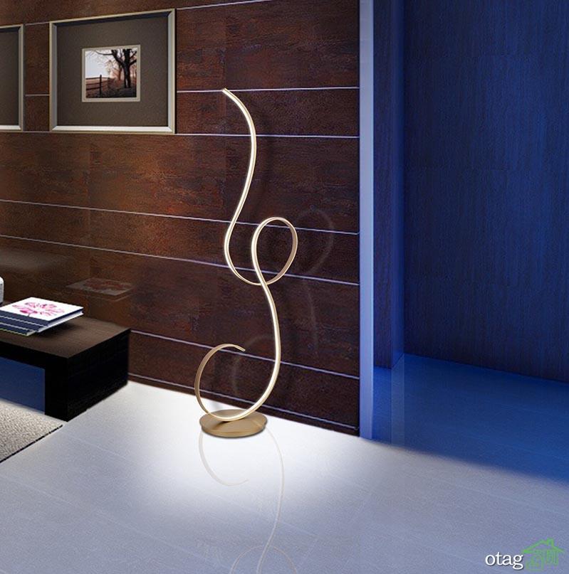 طرحهای جدید آباژور مدرن ایستاده مناسب اتاق نشیمن و پذیرایی