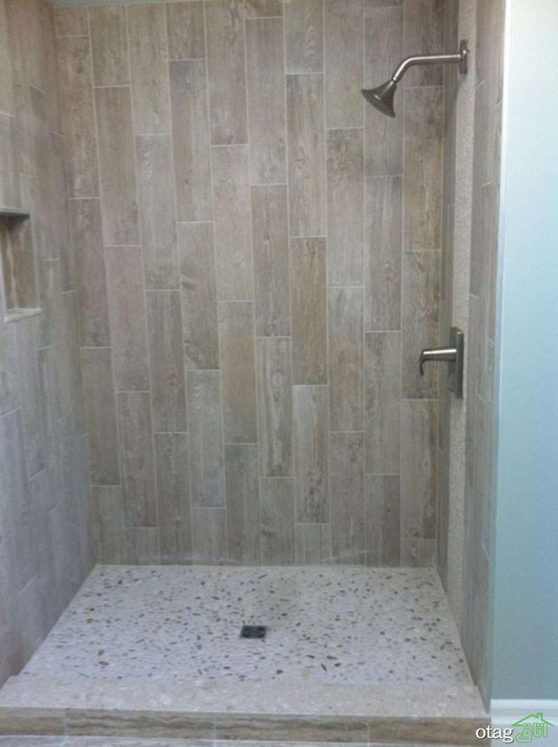 22 مدل لوکس سرامیک طرح چوب دیواری مناسب حمام و دستشویی