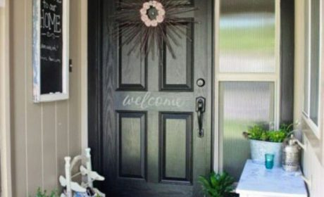 تزیین درب ورودی منزل با استفاده از ایده های مختلف