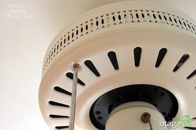 آموزش تزیین پنکه سقفی قدیمی به 3 روش زیبا، ساده و کاربردی