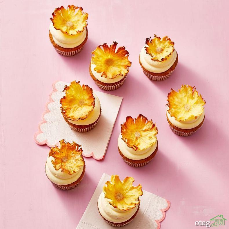 طرز تهیه کاپ کیک آناناس و هویج به روشی ساده و بسیار خوشمزه